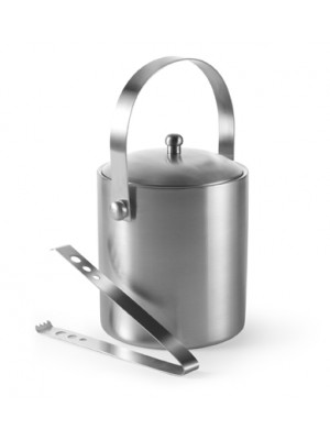 Double-Walled Stainless Steel Ice Bucket With Tongs