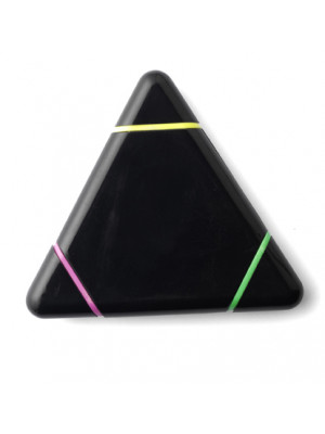 Triangular Shaped Plastic Text Marker- Yellow Pink Green