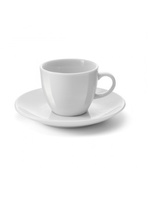 White Porcelain Cup And Saucer