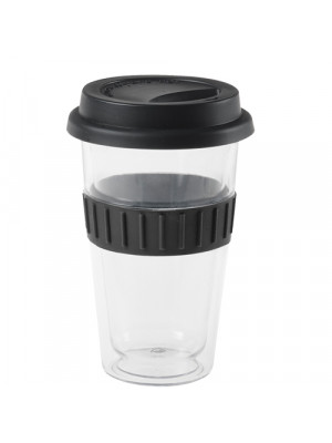 Black Clear Plastic Travel Mug