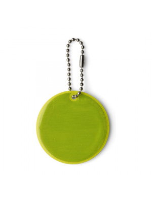 Round Reflective Plastic Key Holder