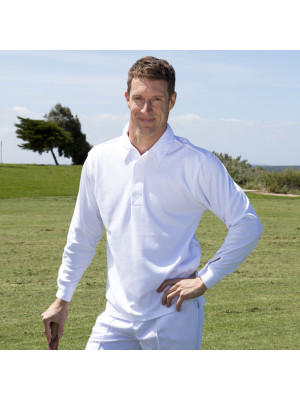 Podium Long Sleeve Cricket Polo