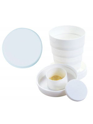 100Ml Collapsible Cup With Pillbox