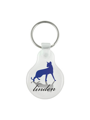 Flexi Resin Keyring- Round