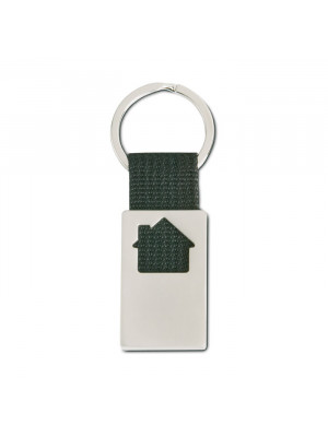 Metal  Canvas House Shaped Keyring