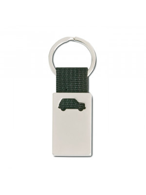 Metal  Canvas Car Shaped Keyring