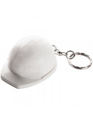 Hard Hat Keyring White