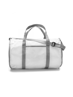 Sports Bag Made From A Plastic Laminated Material Includes Carry Strap