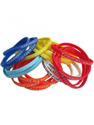 Thin 6Mm Silicon Wristbands (Indent Only)