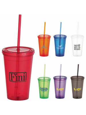 Iceberg 500ml Tumbler with Straw
