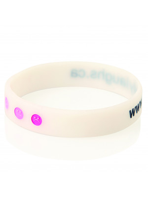 Debossed Colour-filled Silicone Wristband