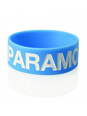 Extra Wide Silicone Wristband with Colour Infill