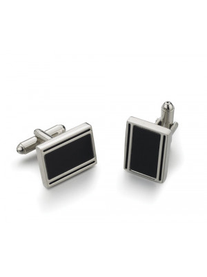 Silver And Black Cufflinks